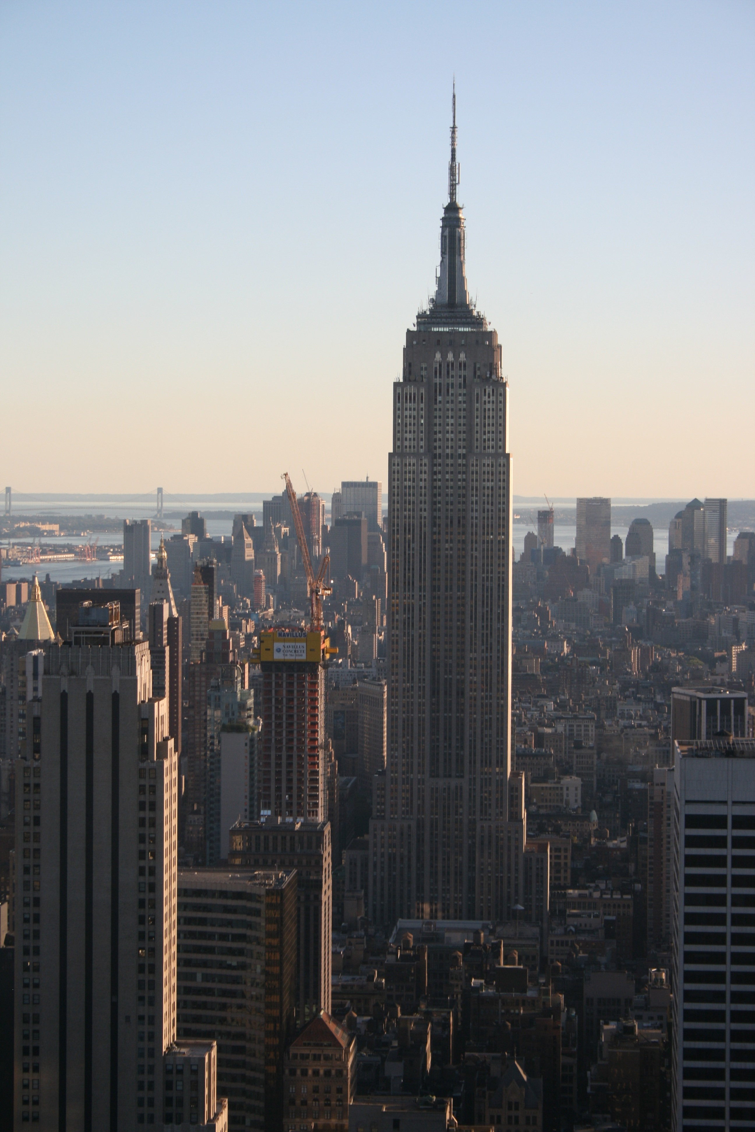 Empire state from the top of the rock new york city a for Top of the rock new york restaurant